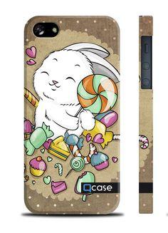 Чехол QCase для iPhone 5 | 5S E.Mamaeva (CANDY) (пластиковый чехол, защитная пленка, заставка) купить в интернет-магазине BeautyApple.ru.