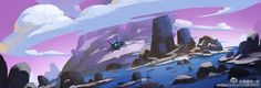Small by sleepypang LI on ArtStation. Animation Background, Visual Development, Environment Design, Landscape Illustration, Color Inspiration, Concept Art, Cool Art, Scenery, Digital Art