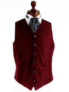 Wedding Waistcoats - Wine Red - Mens Formal Dress Waistcoats