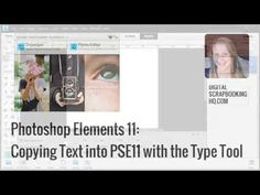 Copy text with fonts and colours in Photoshop Elements 11 - YouTube