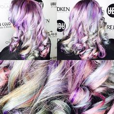 Unicorn Magic Pastel Color melt by using with and for colors colors Call the salon for a FREE consultation to achieve this look. Neon Hair, Pastel Hair, Joico Color, Galaxy Hair, Color Melting, Unicorn Hair, Mermaid Hair, Rainbow Hair, Pretty Hair