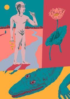 Alessandro Crippa, aka Cripsta - it's nice that Graphic Design Illustration, Graphic Art, Illustration Art, Arte Pop, Art Graphique, Psychedelic Art, Illustrations And Posters, Art Inspo, New Art