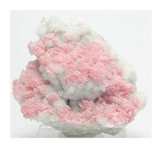 Pink Rhodochrosite with Quartz Crystals Mineral by FenderMinerals,