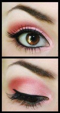 Pink & Black Eye Makeup