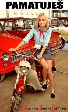 Moped Scooter, Motorbike Girl, Embedded Image Permalink, Motorbikes, Bicycle, Chic, Vintage, Beauty, Motorcycles