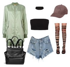 """""""BLACK x OLIVE"""" by alexannaloro on Polyvore featuring MM6 Maison Margiela, Jeffrey Campbell, Givenchy and Vianel"""