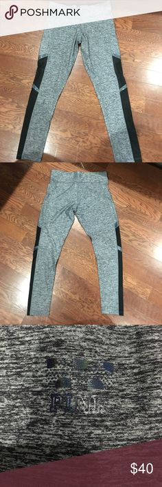 Victoria's Secret Pink Ultimate Workout Legging Black & Grey print. Also has mesh accents (mesh is see through in the middle of the leg). Also has holographic detail. These leggjngs are in excellent condition. Only worn once. 45% Polyester/42% Polymede/ 13% Elastane. Victoria's Secret Pants Leggings