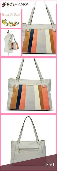 bfc4b054a2 Host Pick! NWT Relic Cross Body Purse NWT. HANDBAG FEATURES Patchwork  stripes Silver-