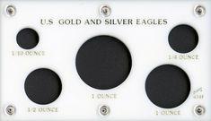 """Capital Plastic 2/"""" x 6/"""" 4-Coin /""""Krugerrand Bullion Set/"""" holder White"""