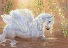 Swan-pegasus by Fable-Art on deviantART * Pegasus Fantasy Myth Mythical Mystical Legend Wings Enchantment - Stella - HotelsPedi Unicorn And Fairies, Unicorn Fantasy, Unicorn Horse, Unicorns And Mermaids, Unicorn Art, Fantasy Art, Pegasus, Beautiful Unicorn, Beautiful Horses