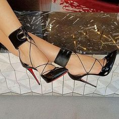 Sky-High Christian Louboutin 'Corsankle' Pointy-Toe Pumps