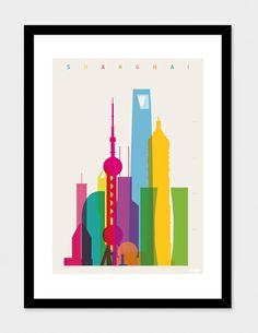 """Shapes of Shanghai in Scale"" - Numbered Art Print by Yoni Alter on @Curioos 