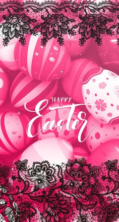 Happy Easter Wallpaper, Holiday Wallpaper, Flower Phone Wallpaper, Iphone Wallpaper, Pink And Black Wallpaper, Easter Wishes, About Easter, Easter Pictures, Easter Peeps