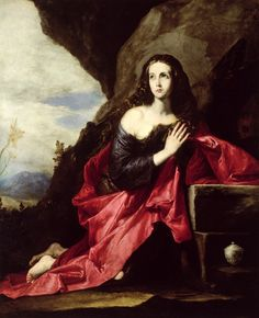 Jusepe de Ribera  Saint Mary Magdalene (1641)  Also identified as Saint Thaïs  Museo del Prado, Madrid