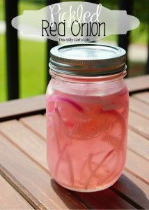 Pickled Red Onions recipe from http://ThisSillyGirlsLife.com super easy and adds a flavor explosion to any dish! #Pickled #RedOnions #Recipe