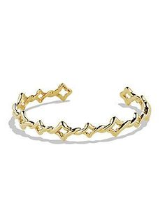 David Yurman Venetian Quatrefoil Cuff Bracelet in Gold