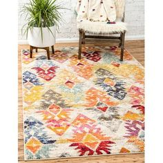 Bungalow Rose Ariyah Gray/Orange/Yellow Area Rug Rug Size: Runner x Yellow Rug, Yellow Area Rugs, Orange Area Rug, Orange Yellow, Pueblo Indians, Buy Rugs, Contemporary Area Rugs, Power Loom, Colorful Rugs
