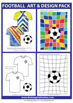 Football theme creative art, design and classroom decor detailed resource pack