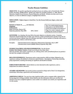 Resume Template For Teacher Free Cover Letter Template Includes