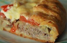 Самые вкусные рецепты: Открытый мясной пирог на картофельном тесте