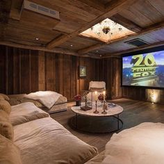 """This movie room is insane (not mine) Netflix and chill?"" More"