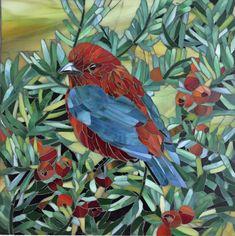 Renu Sharma Mosaic Animals, Mosaic Birds, Mosaic Wall Art, Mosaic Glass, Glass Art, Mosaic Tile Designs, Mosaic Ideas, Stained Glass Birds, Mosaic Crafts