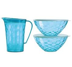 Tupperware | Ice Prisms 3-Pc. Serving Set    So pretty.  only $61
