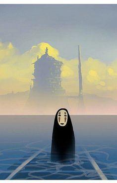 Spirited Away - Hayao Miyazaki. Studio Ghibli movies and art. Art Studio Ghibli, Studio Ghibli Movies, Hayao Miyazaki, Anime Gifs, Anime Art, Anime Disney, Chihiro Y Haku, Howls Moving Castle, My Neighbor Totoro