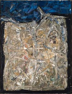 "lilithsplace: "" Antibes, 1966 - Jean-Paul Riopelle (1923–2002) oil on canvas 