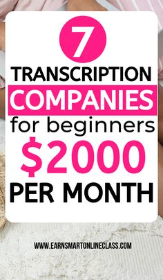 Searching for transcription companies perfect for beginners? Here's a list of 10 best transcription companies offering online transcription jobs from home. You work whenever you want and however much you want. Learn more about transcribing jobs from home! Online Surveys For Money, Earn Money From Home, Earn Money Online, How To Make Money, Online Income, Best Online Jobs, Online Jobs From Home, Online Work, Tips Online