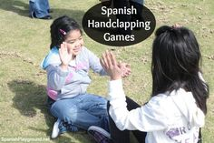 Hand clapping games are great Spanish language activities for children. These two games (mariposa and chocolate) break the word into syllables and are excellent for practicing correct Spanish pronunciation. #Spanishrhymes #Spanishrhyming http://spanishplayground.net/hand-clapping-games-spanish-mariposa-chocolate/