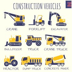 Vocabulary: Construction Vehicles