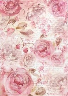 Details about Rice Paper for Decoupage, Scrapbook Sheet, Craft Paper Pink Roses.By Artist Single Vintage Table Paper Napkins Lunch Decoupage Decopatch Bunch of flowersLight pink roses on scroll frame.Decoupage three ways – what types of paper Papel Vintage, Decoupage Vintage, Vintage Diy, Vintage Ephemera, Vintage Paper, Vintage Images, Vintage Table, Scrapbooking Shabby, Scrapbook Paper