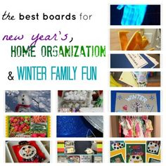 fab ideas for new year's, organization and winter family fun