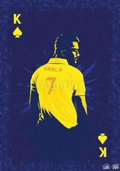The one jersey that we'd wear forever. CSK Official Poster Standard Size: x 42 cm) Note: Actual poster will NOT contain the ? Cricket Quotes, Dhoni Wallpapers, Best Player, Good Vibes, Movies And Tv Shows, Batman, Shit Happens, Superhero, Movie Posters