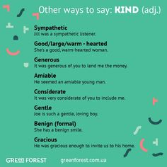 Other ways to say: KIND
