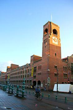 Beurs van Berlage, Amsterdam. Stock exchange building in Amsterdam