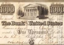 Bank note from the Bank of the United States, dated December 13, 1840. (Gilder Lehrman collection