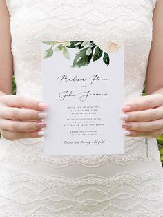 Blush Floral Wedding Invitation Template Pink Flowers Wedding