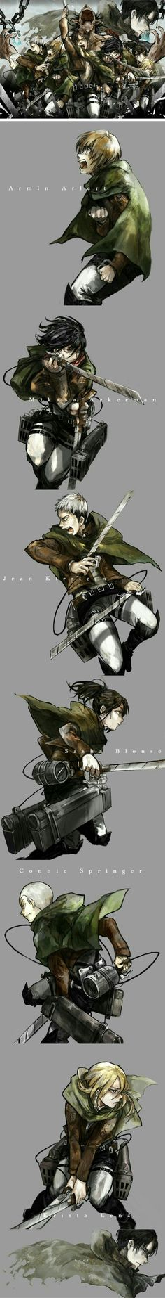 Attack on Titan characters, Armin, Mikasa, Jean, Sasha, Connie, Krista, Levi, text, sad, crying, Eren, Titan form, chains; Attack on Titan