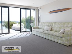 Textone carpet by Cavalier Bremworth. Textone is an SDN loop pile with a mix of stippled and plain yarns in its colour line-up. This STAINMASTER® SolarMax® carpet is designed to offer excellent fade resistance with colours remaining vibrant, even in sunny rooms.