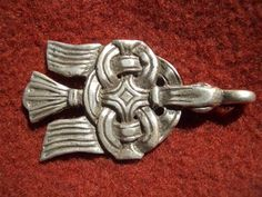 Viking Raven Fastener. Found in Russia, Sweden and other locations. Based on archaeological finds from 10th century.