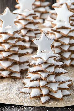 Soft Snowy Gingerbread Christmas Trees make a wonderful holiday gift. Here we take a traditional Christmas cookie and turn it into a fun and magical gift.