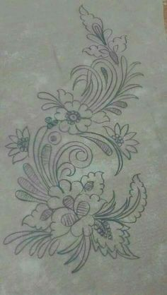 Awesome Most Popular Embroidery Patterns Ideas. Most Popular Embroidery Patterns Ideas. Flower Applique Patterns, Floral Embroidery Patterns, Hand Embroidery Patterns, Machine Embroidery, Tambour Embroidery, Ribbon Embroidery, Cross Stitch Embroidery, Motifs D'appliques, Stitch Design