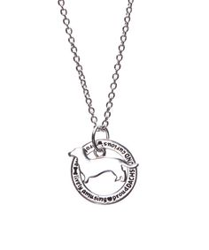 Look at this Silvertone Dachshund Pendant Necklace on #zulily today!