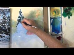 ▶ Snow in Watercolor, Quick, Easy, Loose - YouTube