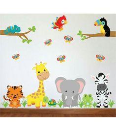 Jungle Nursery Boy, Woodland Nursery Decor, Animal Nursery, Nursery Room, Nursery Murals, Baby Boy Room Decor, Baby Boy Rooms, Zoo Decor, Baby Room Paintings