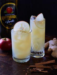 Friskheten och fräschören från äppelcidern gifter sig väl tillsammans med färsk ingefära. Med riven kanel på toppen får vi en exotisk drink med en touch av jul.