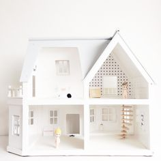 dollhouse black and white interior styling