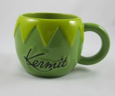Kermit the Frog Coffee Mug Muppets Green Disney Store Henson Oversize Cup 12 Oz.